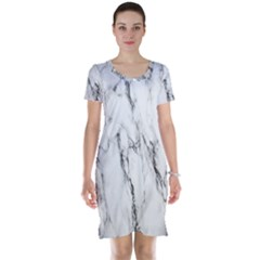 Marble Granite Pattern And Texture Short Sleeve Nightdress