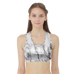 Marble Granite Pattern And Texture Sports Bra With Border