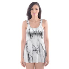 Marble Granite Pattern And Texture Skater Dress Swimsuit