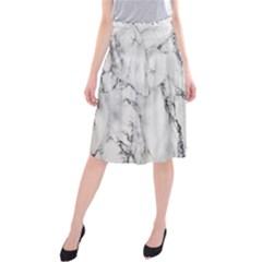 Marble Granite Pattern And Texture Midi Beach Skirt