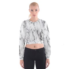 Marble Granite Pattern And Texture Cropped Sweatshirt