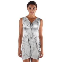 Marble Granite Pattern And Texture Wrap Front Bodycon Dress