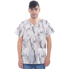 Marble Granite Pattern And Texture Men s V Neck Scrub Top