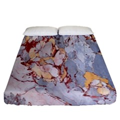 Marble Pattern Fitted Sheet (queen Size) by Nexatart