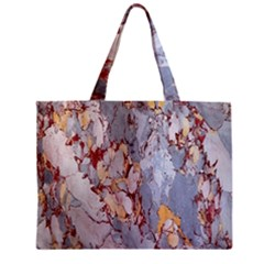 Marble Pattern Zipper Mini Tote Bag
