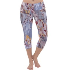 Marble Pattern Capri Yoga Leggings