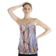 Marble Pattern Strapless Top