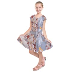 Marble Pattern Kids  Short Sleeve Dress