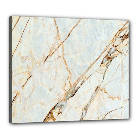 Marble Texture White Pattern Surface Effect Canvas 24  X 20