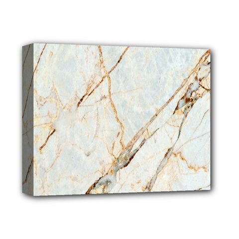 Marble Texture White Pattern Surface Effect Deluxe Canvas 14  X 11  by Nexatart
