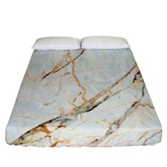 Marble Texture White Pattern Surface Effect Fitted Sheet (california King Size) by Nexatart