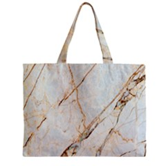 Marble Texture White Pattern Surface Effect Zipper Mini Tote Bag by Nexatart