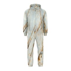 Marble Texture White Pattern Surface Effect Hooded Jumpsuit (kids)
