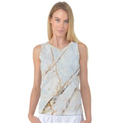 Marble Texture White Pattern Surface Effect Women s Basketball Tank Top