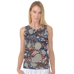 Marbling Women s Basketball Tank Top