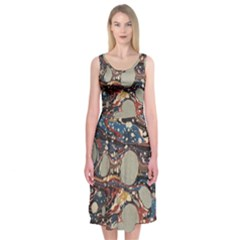 Marbling Midi Sleeveless Dress