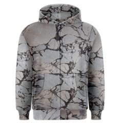 Slate Marble Texture Men s Zipper Hoodie