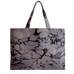 Slate Marble Texture Zipper Mini Tote Bag