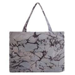 Slate Marble Texture Zipper Medium Tote Bag by Nexatart