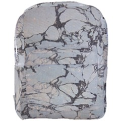 Slate Marble Texture Full Print Backpack by Nexatart