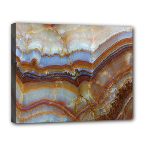 Wall Marble Pattern Texture Canvas 14  X 11  by Nexatart
