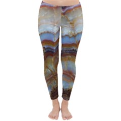 Wall Marble Pattern Texture Classic Winter Leggings