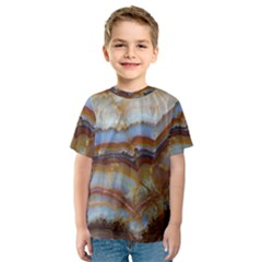 Wall Marble Pattern Texture Kids  Sport Mesh Tee
