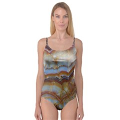 Wall Marble Pattern Texture Camisole Leotard