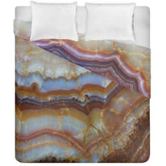 Wall Marble Pattern Texture Duvet Cover Double Side (california King Size) by Nexatart