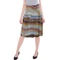 Wall Marble Pattern Texture Midi Beach Skirt