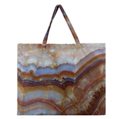 Wall Marble Pattern Texture Zipper Large Tote Bag by Nexatart