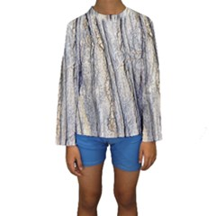 Texture Structure Marble Surface Background Kids  Long Sleeve Swimwear