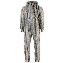 Texture Structure Marble Surface Background Hooded Jumpsuit (men)