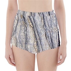 Texture Structure Marble Surface Background High Waisted Bikini Bottoms