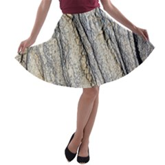 Texture Structure Marble Surface Background A Line Skater Skirt