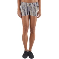 Texture Structure Marble Surface Background Yoga Shorts