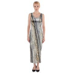 Texture Structure Marble Surface Background Fitted Maxi Dress