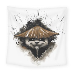Warrior Panda T Shirt Square Tapestry (large) by AmeeaDesign