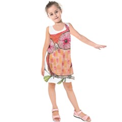 Summer Colourful Owl T Shirt Kids  Sleeveless Dress by AmeeaDesign
