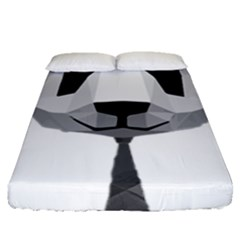Office Panda T Shirt Fitted Sheet (queen Size) by AmeeaDesign