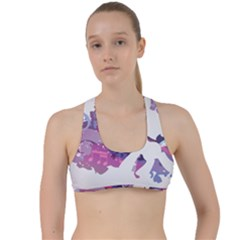 Sweetie Belle Stream Wall  Criss Cross Racerback Sports Bra