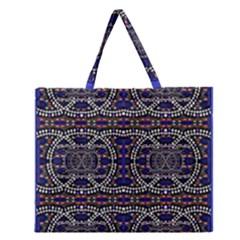 Sanskrit Link Time Space  Zipper Large Tote Bag by MRTACPANS