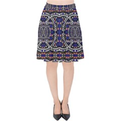 Sanskrit Link Time Space  Velvet High Waist Skirt by MRTACPANS