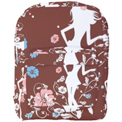Girl Flowers Silhouette  Full Print Backpack