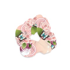 Rose Butterfly Patterns  Velvet Scrunchie by amphoto