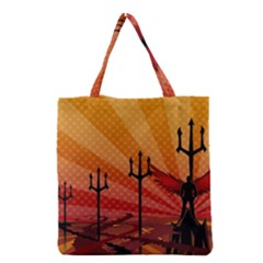 Wings Drawing Poles  Grocery Tote Bag by amphoto