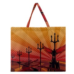 Wings Drawing Poles  Zipper Large Tote Bag by amphoto