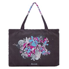 Skulls Ghosts Illustration  Zipper Medium Tote Bag by amphoto