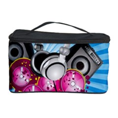 Speakers Headphones Colorful  Cosmetic Storage Case by amphoto