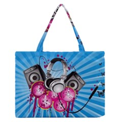 Speakers Headphones Colorful  Zipper Medium Tote Bag by amphoto
